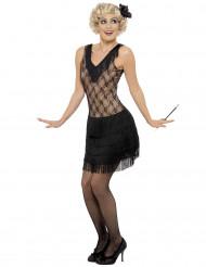 Beige en zwarte charleston outfit voor vrouwen