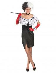 Sexy Cruella kostuum voor vrouwen