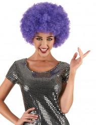 Paarse disco pruik voor volwassenen - Comfort