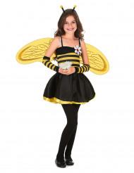 Gestreept bijenpak met vleugels voor meisjes
