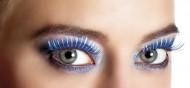 Blauwe en zilveren nepwimpers