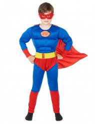Rood met blauw superhelden kostuum voor jongens