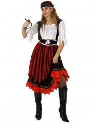 Burlesk piratenkostuum voor vrouwen