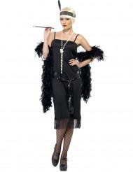 Zwart elegant charleston kostuum voor dames