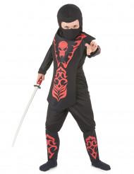 Doodskop ninjakostuum voor jongens