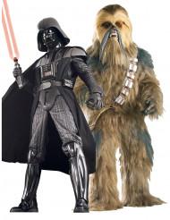 Dark Vador™- en Chewbacca™ Star Wars™-kostuum voor koppel (collector