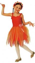 Rood ballerinafeeënkostuum voor meisjes