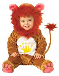 Oranje leeuwenpak met kroon voor baby