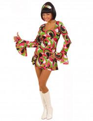 Gekleurde disco hippie outfit voor dames