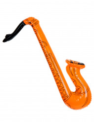 Oranje opblaasbare saxofoon