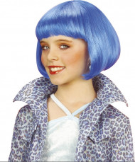Blauwe jazzy pruik voor meisjes