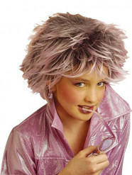 Pruik met paarse lokken voor meisjes