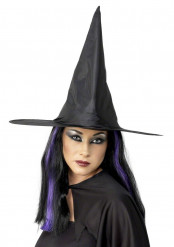 Zwarte Halloweenheksenhoed voor volwassenen