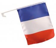 Franse supportersvlag voor in de wagen