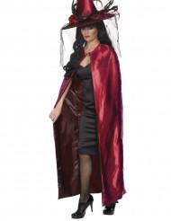 Roze-zwarte omkeerbare cape voor volwassenen