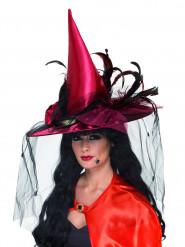 Luxe heksenhoed voor volwassenen Halloween