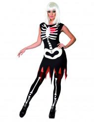 Skelettenkostuum voor vrouwen