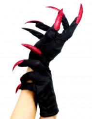 Handschoenen met neppe heksennagels