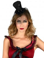 Mini hoge hoed met sluier voor vrouwen