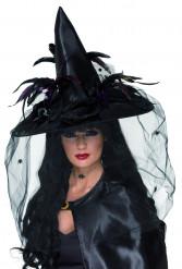 Luxueuze heksenhoed voor Halloween voor volwassenen