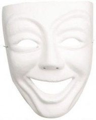 Wit lachend theathermasker voor volwassenen