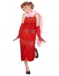 Rood charlestonkostuum voor meisjes