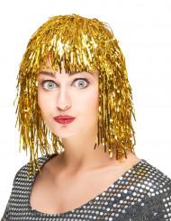 Goudkleurige glitterpruik voor volwassenen