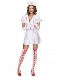 Sexy verpleegster kostuum met zusterhoedje voor vrouwen