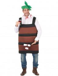 Wijnvat kostuum voor volwassenen