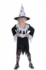 Halloweenheksenkostuum met spinnen voor meisjes
