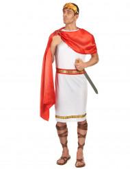 Witte en rode Romeinse outfit voor mannen