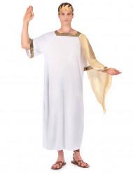 Goudkleurig en wit Romeinse keizer pak voor mannen