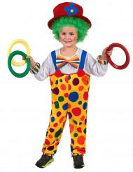 Kleurrijk clown kostuum met stippen voor kinderen