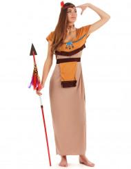Klassieke beige en oranje indianen outfit voor vrouwen