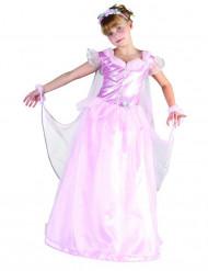 Satijnachtig roze prinseskostuum voor meisjes