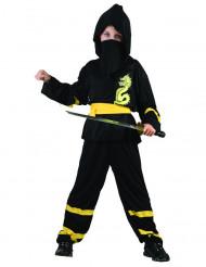 Gele draak ninja kostuum voor jongens