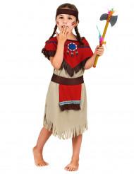 Rode en beige indiaan outfit voor meisjes