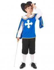 Blauw musketierskostuum voor jongens