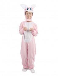 Schattig roze en wit konijnenkostuum voor kinderen