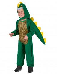 Gele en groene dinosaurus outfit voor kinderen