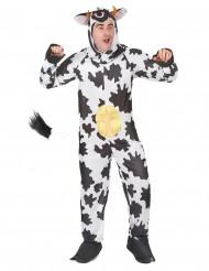 Koeien pak met uiers en capuchon voor volwassenen