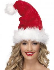 Luxueuze bontachtige kerst muts voor volwassenen
