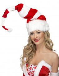 Gestreepte kerstmuts voor volwassenen