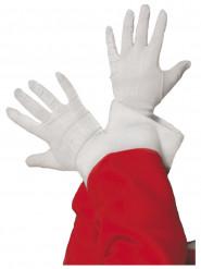Witte kerstman handschoenen