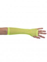 Gele nethandschoenen voor vrouwen