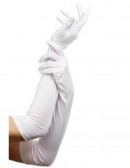 Lange witte handschoenen voor volwassenen