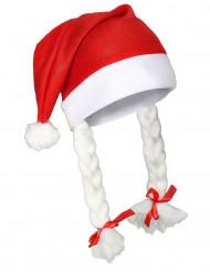 Kerstmuts met vlechten voor volwassenen