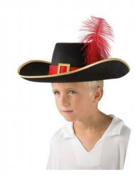 Blauwe en zwarte musketier hoed voor kinderen