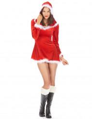 Sexy verleidelijke kerstvrouw kostuum voor vrouwen