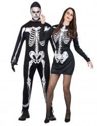 Halloweenskelettenkostuum voor koppels